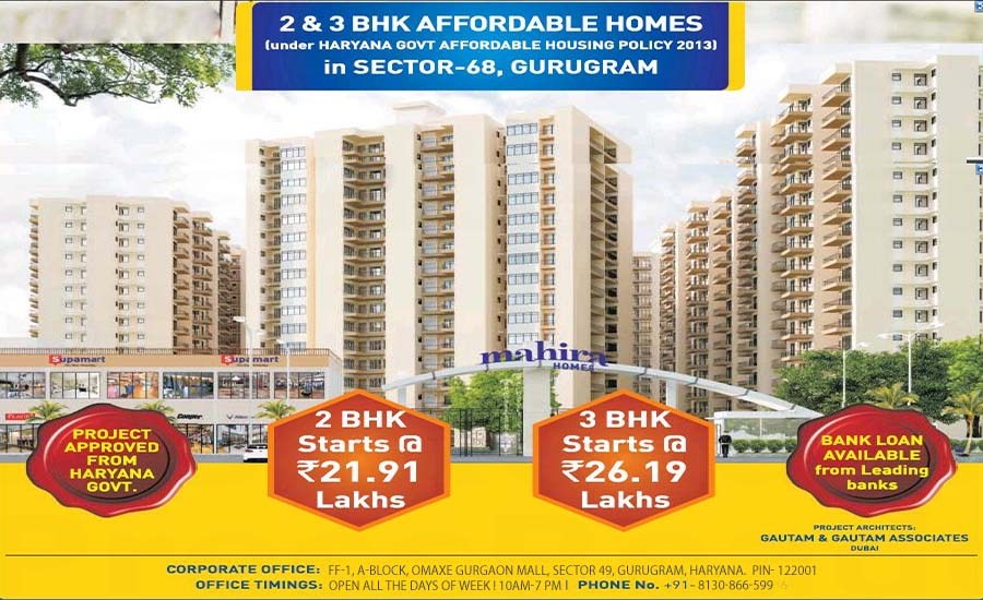 Mahira Homes Sector 68 Affordable Housing Launched Today