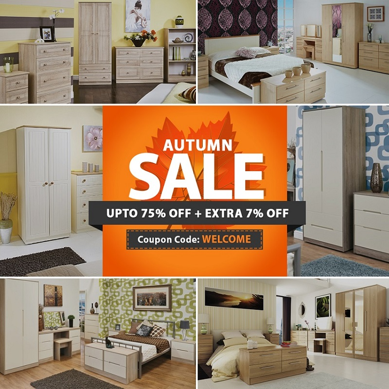 Flat 7% Off on Welcome Bedroom & Living Furniture | Ready Assembled
