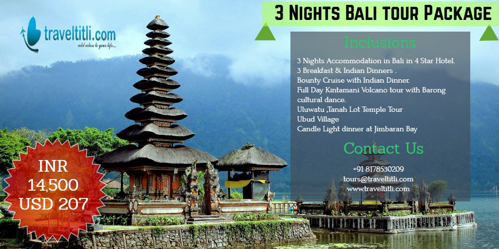 Bali Tour Package @ Rs 14,500 -International Tour Package - Travel Titli