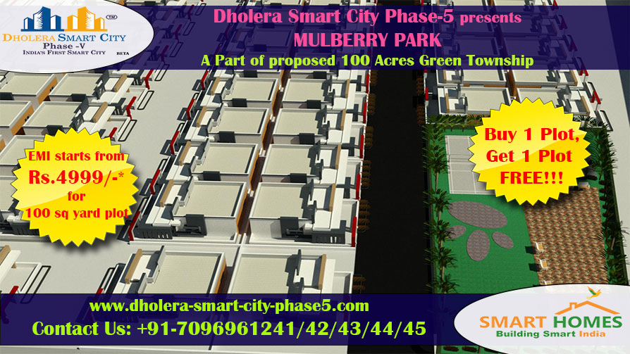 Buy Plot No. 4, Get Plot No. 5 absolutely free!!! In Dholera | Smart Homes Infrastructure