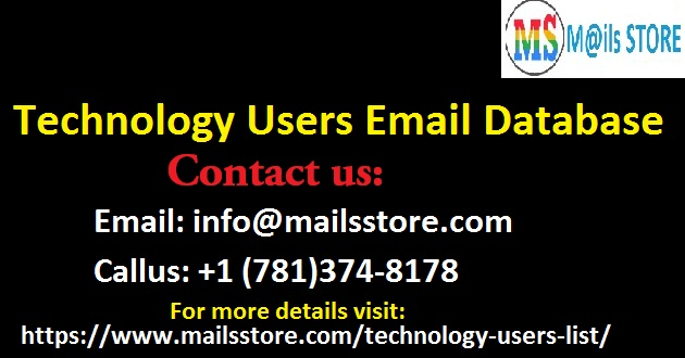 Technology Users Email List | Technology Users Mailing Addresses | Technology Leads