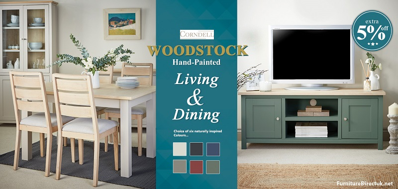 Corndell Woodstock Dining and Living Room Colorful Furniture Sale