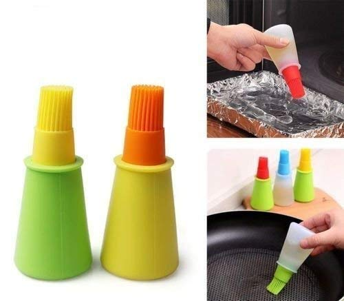 Gopinath Creation Silicone Cooking Oil Bottle with Basting Brush