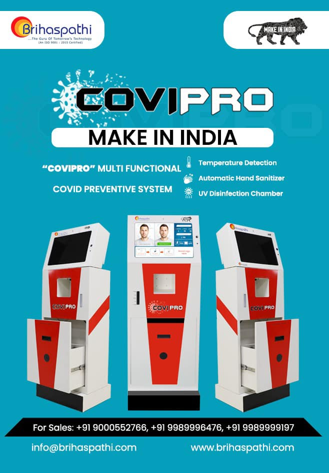 COVI-PRO the Best Temperature Detector Sensor Automatic Hand Sanitizer with UV disinfection System