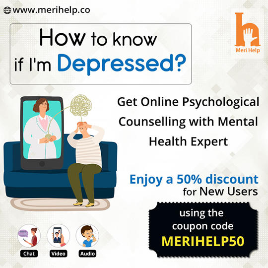 Get effective and affordable Online Depression Counselling in India at Meri Help.
