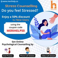 Find effective and complete confidential Online Stress Counselling at Meri Help.