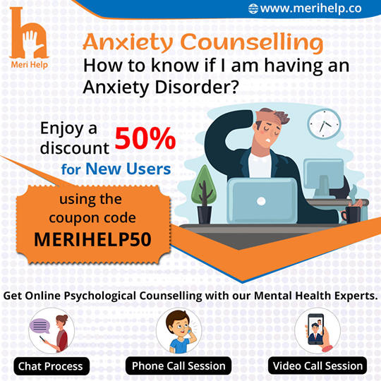 Start Your Healing Journey now. Get Online Anxiety Counselling in India with Mental Health professionals.