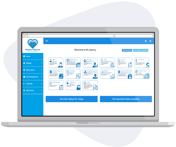 Legal Case Management Software - Medico Reports