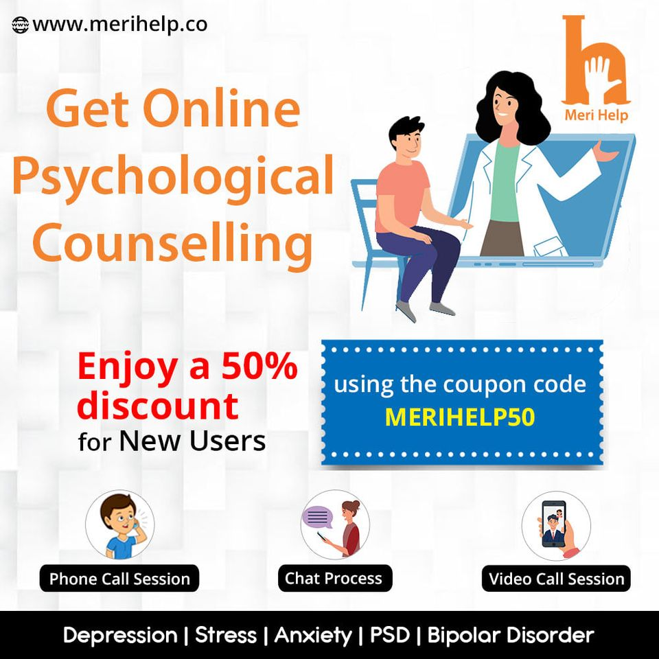 Best Online Psychological Counsellingin India from comfort of home.