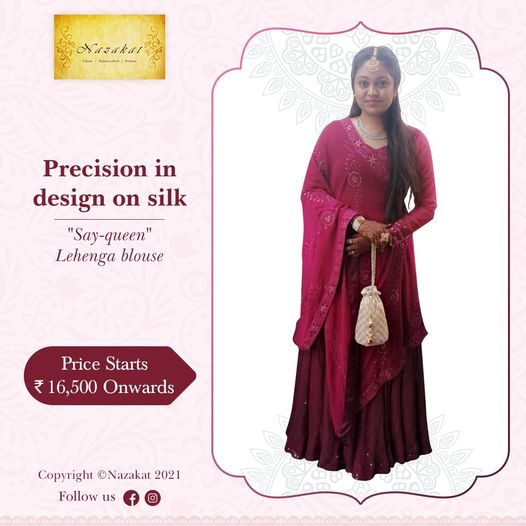 Shop for Womens Ethnic Wear at Nazakat Boutique Ahmedabad