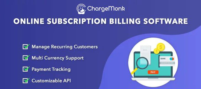 Chargemonk subscription management software & recurring revenue model