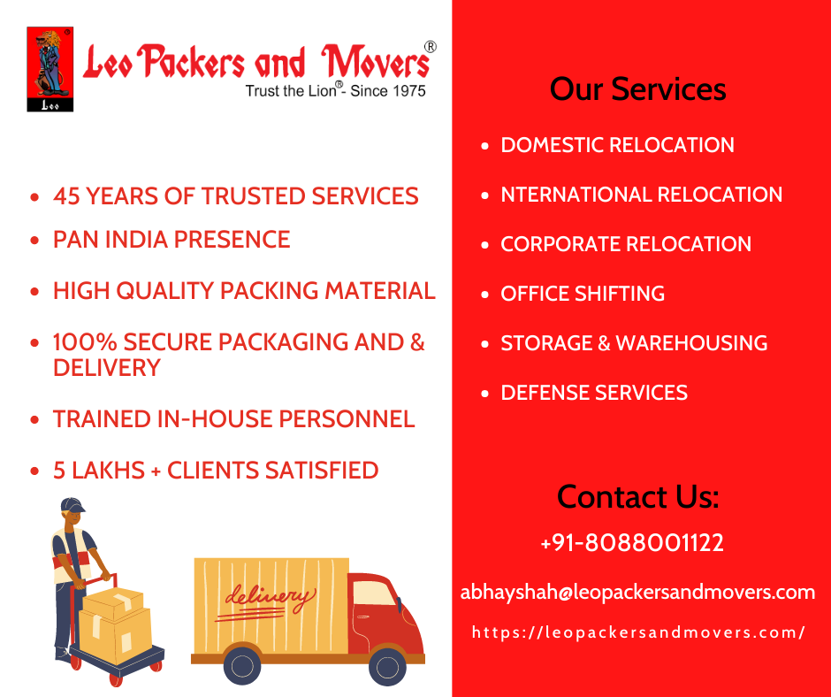 Choose Leo Packers and Movers For Your Next Relocation