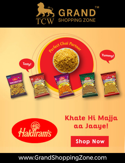 Grand Shopping Zone Snacks | Haldiram Khatta Meetha - 1 Kg