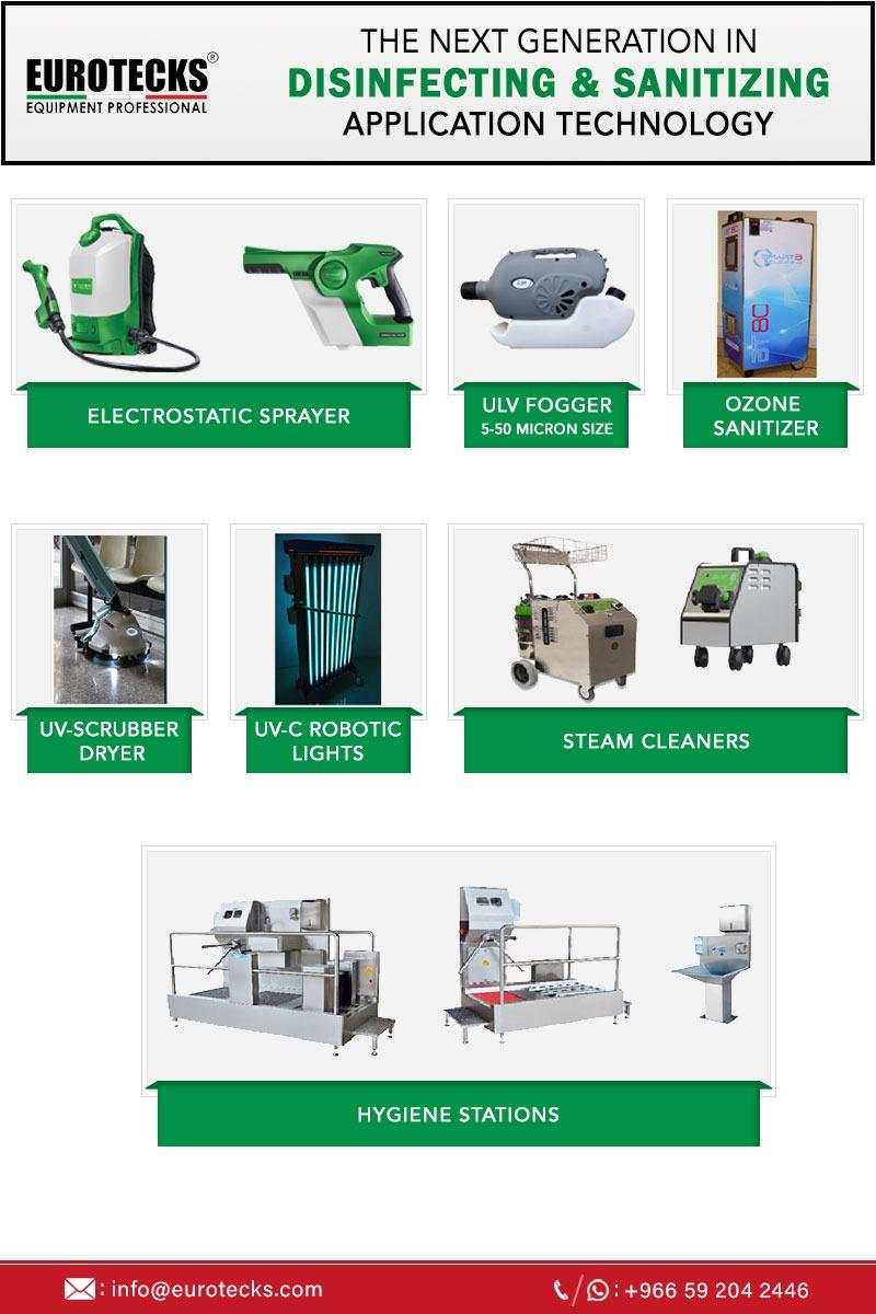 Industrial & Professional Cleaning Equipment Suppliers in Saudi Arabia - Eurotecks