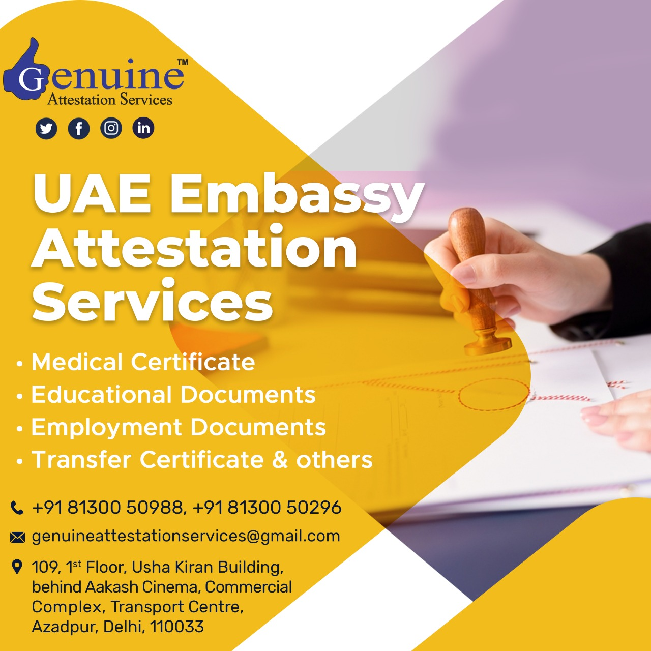 Certificate Attestation For UAE - genuineattestationservices.com