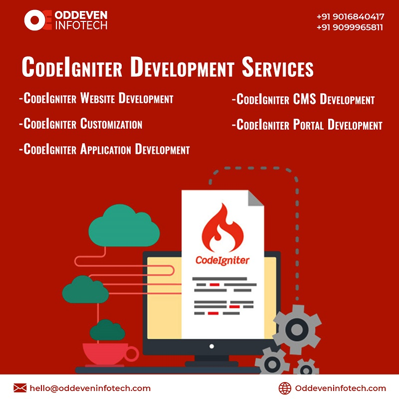 Leading CodeIgniter Development Services in India   Oddeven Infotech