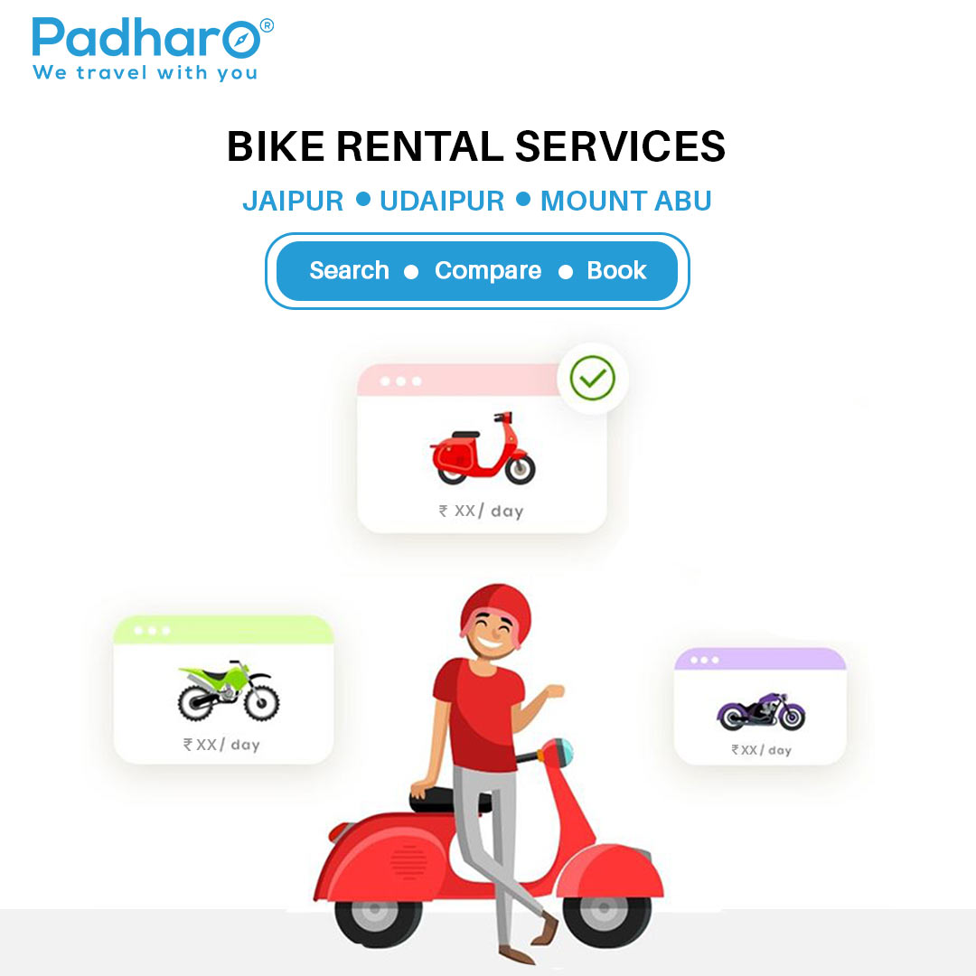 Hire Sanitized Two-Wheeler For Rent | Rent a Bike in Udaipur