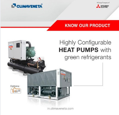 Highly Configurable Heat Pumps with green refrigerants.