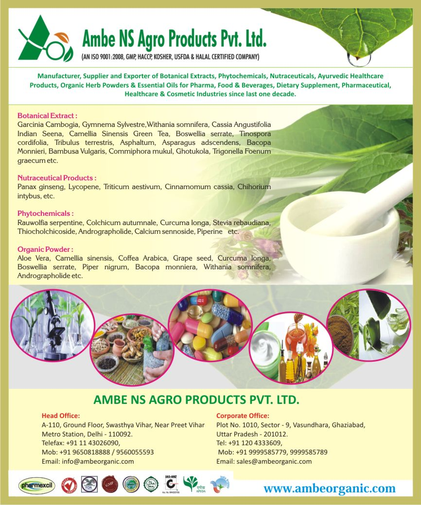 Herbal Extracts - Nutraceutical Products - Phytochemicals - Organic Powder-Ambe Ns Agro Products Pvt Ltd