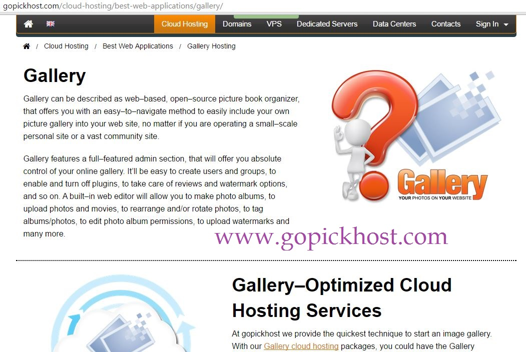 gopickhost cloud hosting
