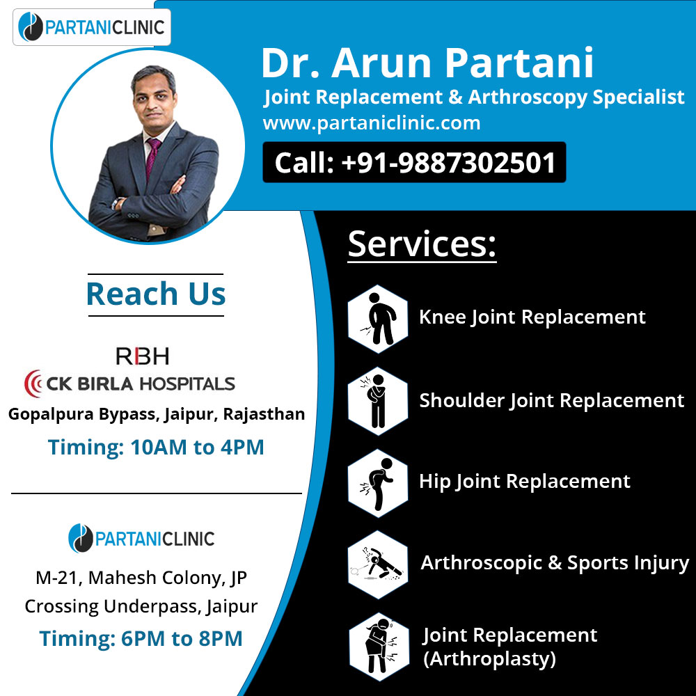 Get the best Total hip replacement surgery in Jaipur at Partani Clinic.